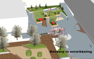 Plannen buitenruimte Kantinegebouw in beeld